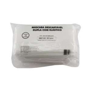 Mascara Cirurgica Tripla Descartavel c/100Unid.