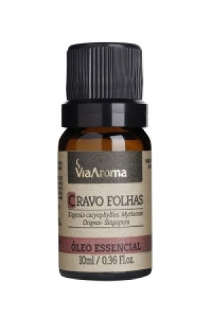 OLEO ESSEN. CRAVO FOLHAS - 10ML VIA AROMA