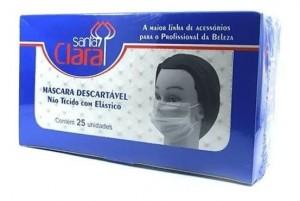 Máscara Descartável Branca - Caixa com 25 unidades Santa Clara