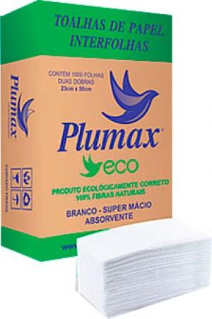 Papel Toalha Plumax (Verde) 1000Folhas